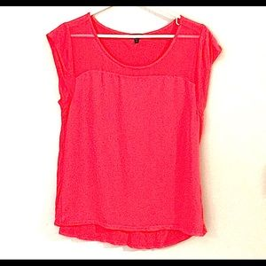 Express | hot pink short sleeve shirt